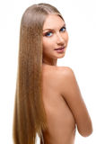 Girl with long blonde hair Royalty Free Stock Image