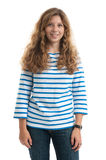 Girl with long curly hairs Royalty Free Stock Photos