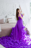 Girl in a long dress Royalty Free Stock Photography