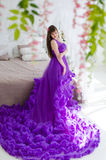Girl in a long dress Royalty Free Stock Image