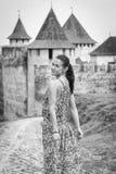 A girl in a long dress Stock Photos