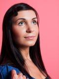 Girl with long hair. Closeup Stock Photo