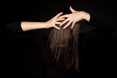 Girl with long hair Royalty Free Stock Photo