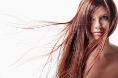 A girl with long hair Stock Photos