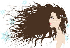 A girl with long hair Stock Photo