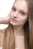Girl with long hair Royalty Free Stock Images