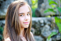 Girl with long hair Royalty Free Stock Image
