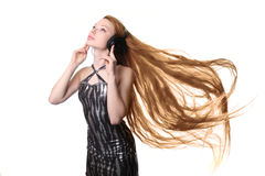 Girl with long hair Stock Images