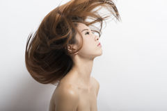 A girl with long hair Royalty Free Stock Images
