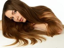 Girl with long hair Stock Image