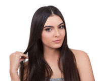 Girl with long hair. Stock Image