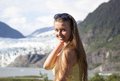 The Girl With Long Hair Royalty Free Stock Photos