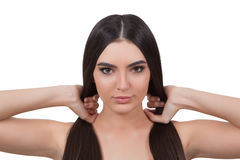 Girl with long hair. Stock Photo