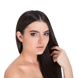 Girl with long hair. Stock Photos