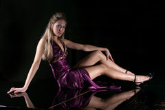 The girl with long legs Royalty Free Stock Photo