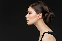 Girl with long neck Royalty Free Stock Photo