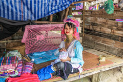 Padaung tribe long-necked royalty free stock photo