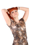 Girl with  long red hair Royalty Free Stock Images