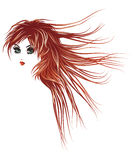 Girl with long red hair Royalty Free Stock Photography