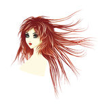 Girl with long red hair Stock Image