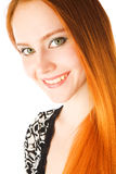Girl with long red hair. Portrait of the girl with long red hair Stock Photography