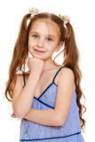 The girl long tails on the head Royalty Free Stock Photos