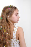 Girl with long thick hair Royalty Free Stock Image