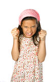 Girl looking angry Royalty Free Stock Photography