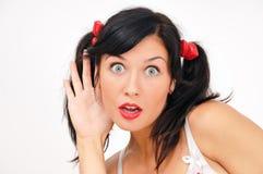 Girl looking at camera Royalty Free Stock Photography