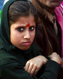 Girl looking at the camera. Indian Girl looking at the camera angrily Royalty Free Stock Image