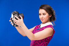 Girl looking at the camera Stock Photography