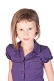 Girl looking at camera on white background Royalty Free Stock Photos