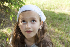 Girl looking dreamy Royalty Free Stock Photo