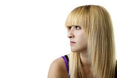 Girl Looking Left Royalty Free Stock Photography