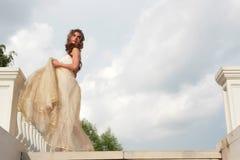 Girl looking like Cinderella Stock Image