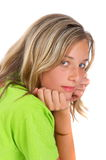 Girl looking over shoulder Stock Photography