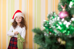 Girl looking for present Royalty Free Stock Photo