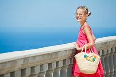 Girl looking at sea Royalty Free Stock Image