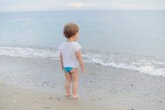 Girl Looking at Sea Stock Photography