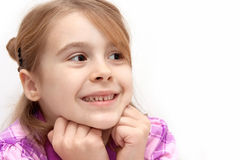 Girl looking at someone Royalty Free Stock Photography