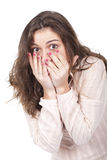 Girl looking surprised Royalty Free Stock Photo