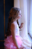 Girl looking thoughtfully out of the window Royalty Free Stock Image