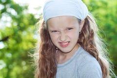 Girl looking treathful Stock Images