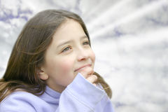 Girl looking up 2 Stock Photo