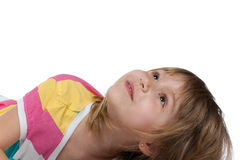Girl looking up Royalty Free Stock Images