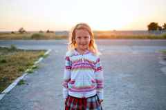 Girl looks into the camera Stock Image