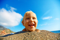Girl looks into the camera Royalty Free Stock Image
