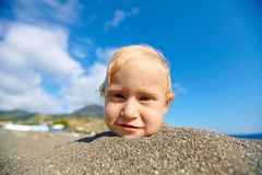 Girl looks into the camera Stock Photo