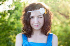 Girl looks forward Royalty Free Stock Photography