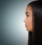 Girl looks forward Stock Image